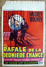 belgian poster polar THE LAST MILE, MICKEY ROONEY, ALAN BUNCE, PRISON