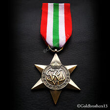 ITALY STAR WW2 MILITARY MEDAL BRITISH COMMONWEALTH SEA AND LAND SERVICE COPY