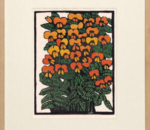 Margaret Preston Platylobium Australian Wildflower Painting Flower Art Deco