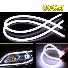 2x 60CM White Flexible Soft Tube Guide LED Car Strip Light Lamp DRL Light 12V