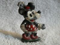 OLD LEAD DISNEY Minnie Mouse w Red Shoes Figure Hand Painted