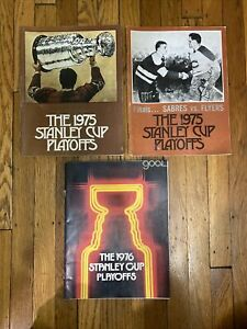 Buffalo Sabres Stanley Cup Playoffs - Vintage Lot of 3 Programs - 1970s NHL