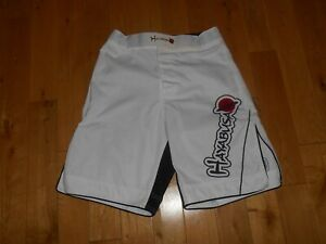 Vintage Original Hayabusa MMA Kickboxing Fight Grappling Shorts White Mens Sz 30