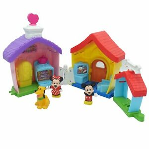 Fisher Price Little People Disney Mickey and Minnie Mouse Pluto House Playset