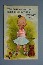 R&L Postcard: Wise Child Didn't Come from a Parsley Bed, Toys Walking Cane