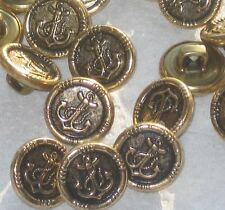 Lot 25 ANCHOR Picture Set Vintage New Antiqued Gold METAL Small buttons