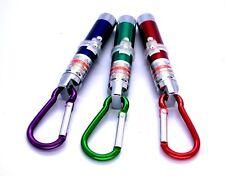 3 Pcs 3-in-1 Laser Pen Pointer Beam w Red Laser 5mw, UV&LED Light+Key Clip