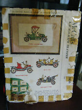 Vintage McCall's 1636 Vintage Cars Embroidery Patterns & Instructions