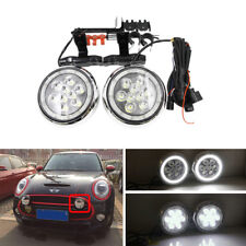 Mini Cooper F55 F56 F57 Chrome Front Bumper Mini Rally Driving Light W DRL Halo