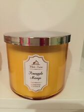 Bath And Body Works 3 Wick Candle  White Barn Pineapple Mango  25-45 Hour Burn