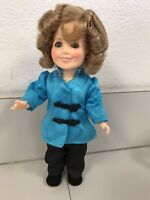 """Vintage 1982 Shirley Temple 8"""" Doll """"Asian Stowaway"""" Blue, By Ideal"""