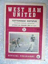 1964 WEST HAM UNITED v TOTTENHAM HOTSPUR, 8th Feb (League Division One)