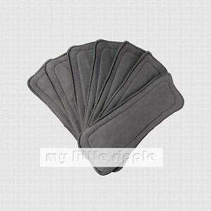 6 x 5-layer Reusable Bamboo Charcoal Inserts / Liners for Baby Cloth Nappies