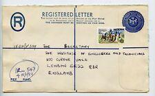 Nigeria postal stationery registered letter used 1983 (T355)