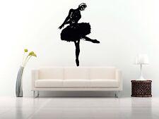 Wall Room Decor Art Vinyl Sticker Mural Decal Ballet Dance Women Ballerina FI359
