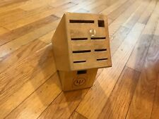 Used Wooden Knife Block