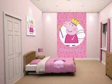 PEPPA Pig PRINCESS PEPPA Girls Muro Poster Murale 6 Pezzi carta da Parati Bambini Camera Da Letto
