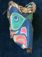 CARL SIMEON Northwest Coast First Nations Carved, Signed Owl Mask