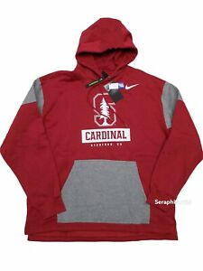 Nike Mens XL Stanford Cardinal Fan Pullover Hoodie Red/Grey CT7786-698 NWT