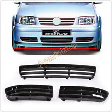 3Pcs ABS Front Bumper Lower Grille Insert Kit Fit for VW Jetta Bora MK4 99-05
