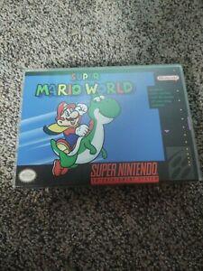 Super Mario World (SNES, 1991) AUTHENTIC! Box, no manual