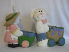 2 Eddie Walker Midwest Cannon Falls Bunny Rabbits Pushing Stroller Egg Holder