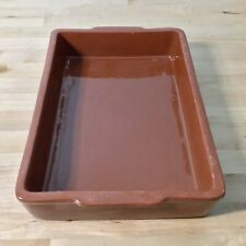 Sur La Table Terra Cotta Country Red Clay Rectangle Cake Baking Casserole Dish