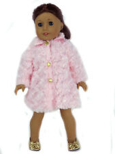 Pink Fur Coat Doll Clothes Fits 18 Inch American Girl
