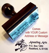 Sexy Witch Rubber Stamp With Custom Address/Message