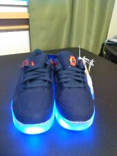BOYS SIZE 4 SNEAKERS FLASH LIGHTS RECHARGEABLE SHOES ON/OFF SWITCH - BRAND NEW