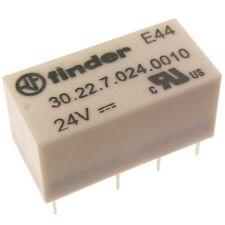Finder 30.22.7.024 Dual-In-Line Relais 24V DC 2xUM 2A 125V AC Relay Print 069564