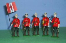 TOY SOLDIERS METAL RCMP  ROYAL CANADIAN POLICE SET OF 5 54MM