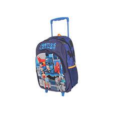 Justice League Trolley Wheelie Suitcase Luggage Travel School Bag Kids Wonder Wo