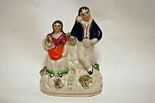 Antique 19th Century English Staffordshire Figural Figurine Couple