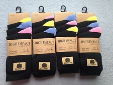 UK NEW LADIES RICH COTTON SOCKS (PACK OF 12) COMFORTABLE WORK SOCKS UK SIZE 4-7,