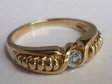 Stunning & Unusual Brazilian Aquamarine & Gold Ring Size N