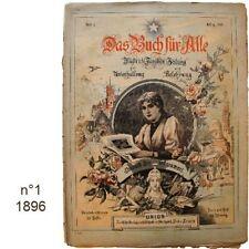 Das Buch für Alle n°1/1896 Illustrierte Familien-Zeitung journaux anciens