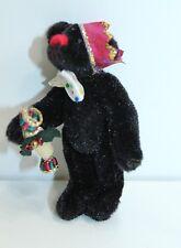 "Little Gem Bear Sydney Christmas Black Bear 2.5"""" Collectible"