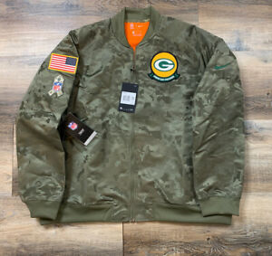 Nike Green Bay Packers Salute to Service AT7871-222 Womens USA 2019 Jacket XXL