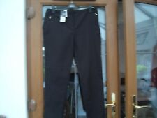 GEORGE BLACK COTTON TROUSERS WITH GOLD ZIPS  size 16