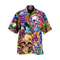 Funky Hawaiihemd Beach Hawaiian Shirt Herren Manner Kurzarm Strand Urlaub Hemd