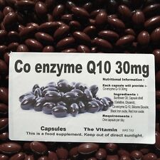 "Co-enzyme Q10 30mg 365 capsules One per day   ""FREE POSTAGE""   (L)"