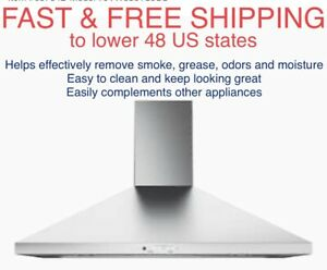 FREE SHIPPING New GE 36 Wall Mount Pyramid Chimney Hood Stainless JVW5361SJSS