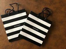 Sephora Small Gift Bags, Black White Stripe LOT of 2