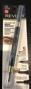 REVLON Colorstay Brow Creator Micro Pencil Powder and Brush #610 Dark Brown