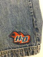 Toddler Harley Davidson Jeans Pants Boy Girl 3T Elastic Back Blue Denim Elastic