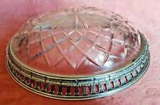 Superb Cut Glass Early 20th Century Ceiling Light on Chromed Body