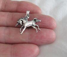 Sterling Silver 21mm Unicorn pendant.