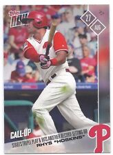 2017 TOPPS NOW #526 Rhys Hoskins Starts Triple Play & Hits Record-Setting HR.