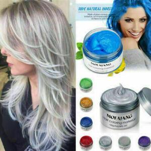 Unisex DIY Hair Color Wax Mud Dye Cream Temporary Modeling 7 Colors Mofajang mou